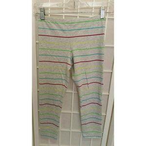 NWOT Multi-colored Striped leggings L